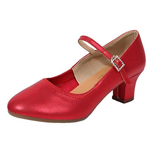 ✿Eaylis Damen Sandalen Schnalle Latin Dance Tango Tanzschuhe Tanzschuhe Schuhe Einzelschuhe Sommer Strand Schuhe Hausschuhe Stilvoll und elegant - Rogers Barbara