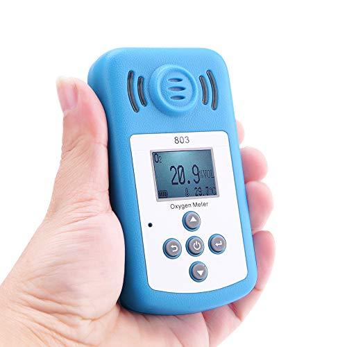 Mini tester di ossigeno digitale LCD O2, rilevatore di concentrazione, misuratore di temperatura, con allarme luce sonora