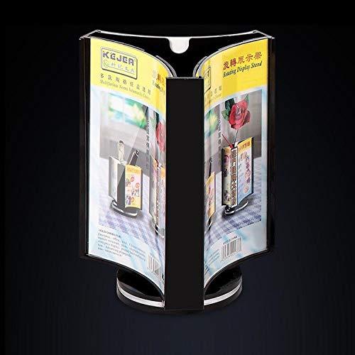 FGDH&SDF Drei Jin Dreieck Wasser Platte Drei Seiten Rotierenden Anzeigetafel Desktop Acryl Tisch Kartenhalter, 105 * 148 Mm