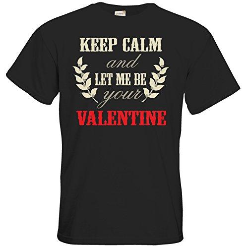 getshirts - RAHMENLOS® Geschenke - T-Shirt - Valentinstag Valentine Keep Calm Black