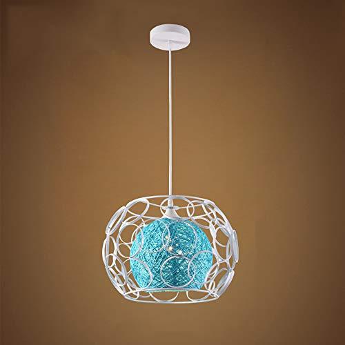 Moderne E27 Pendelleuchte Kreative Kronleuchter Höhenverstellbar Blau Innen Lampe Dekoration Leuchte Runde Für Esstisch Wohnzimmer Küche Restaurant 32 * 22 *   100 CM - Runde Pub Höhe Tisch
