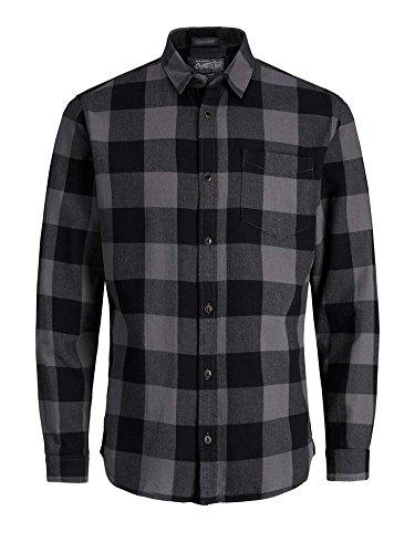 JACK & JONES Herren Freizeithemd Jorfrisk Shirt Ls Noos Asphalt