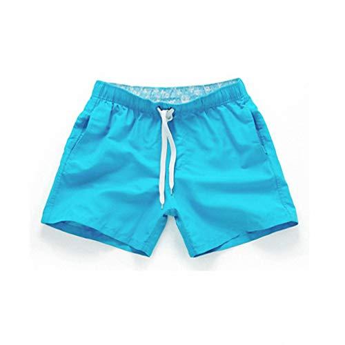 Tasche Schnell Trocknend Badeshorts Für Männer Badebekleidung Mann Badeanzug Badehose Sommer Baden Strand Tragen Surf Boxer Brie Sky Blue XXL - Coolmax Boxer Briefs