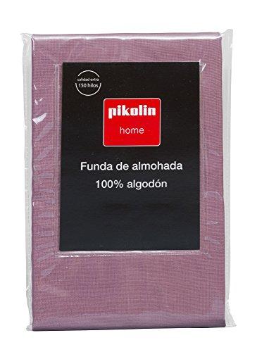 Pikolin Home - Almohadón, funda de almohada, 100% algodón, almohadas de 135 y 150cm, color morado...