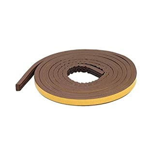 M-D Building Products 63644 All-Climate EPDM Weatherstrip, All Strip for extra large gaps, 10 Feet, Brown by M-D Building Products