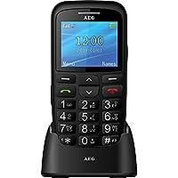 """AEG Voxtel SM315 - Móvil libre con pantalla de 2.2"""", botón de SOS y teclas grandes - Negro"""