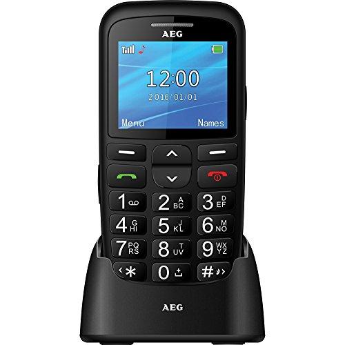 AEG Voxtel SM315 - Móvil libre con pantalla de 2.2', botón de SOS y teclas grandes - Negro