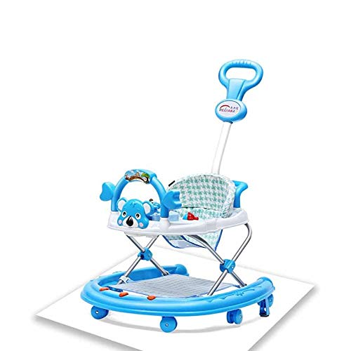 Faltbare Baby Walker, Jungen und Mädchen 7-18 Monate junge Kinder schieben Kinderwagen (Color : C) -