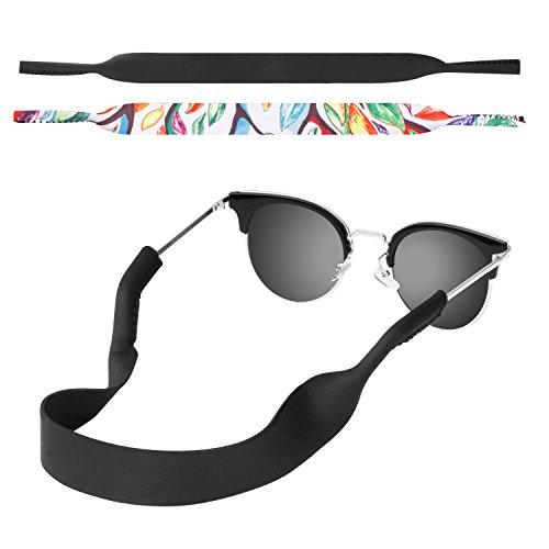 MoKo Cordino per Occhiali Cadenine Neoprene per Occhiali con Fermo Universale per Occhiali & Occhiali da Sole per Bambini Uomini Donne – Nero &