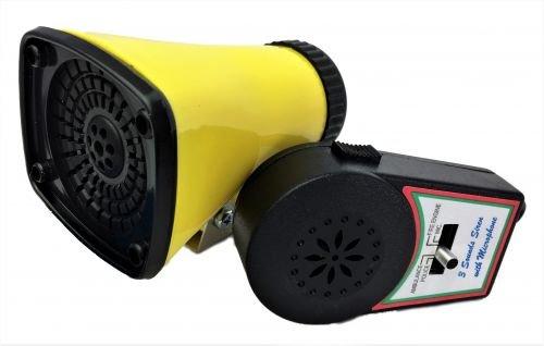 Kojak Batterie-Sirene, mit Micro, drei verschiedene Sirenen - Fahrrad Sirene