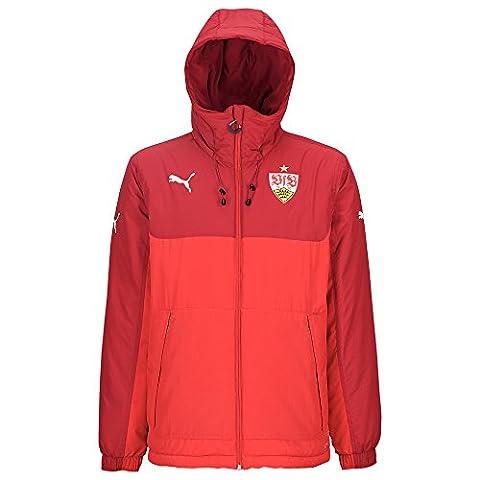 Puma VfB Stuttgart Bench Jacket - rio red, Größe #:XL