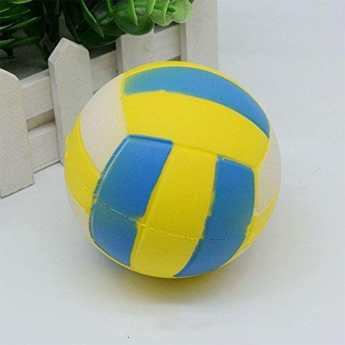 Simulation Fußball Volleyball Softball Basketball Ball Spielzeug langsam steigend Squishy Stress Relieve Squeeze Spielzeug Geschenke, Volleyball, 9 cm ()