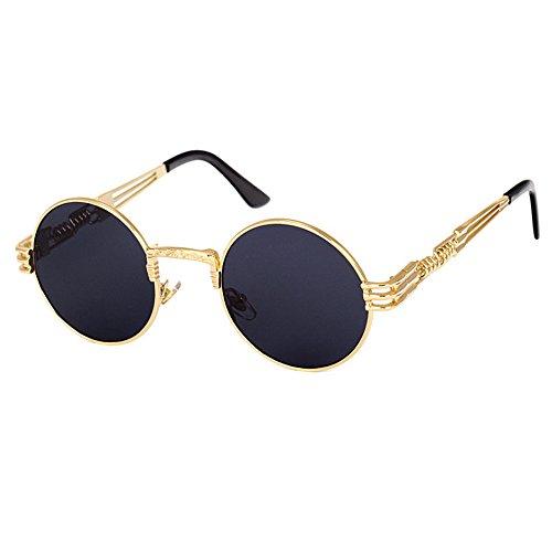 Men Sunglasses Luxury Round Lens Steampunk Glasses Driving Aviator Sun Glasses Eyewear Male Lunettes De Soleil steampunk buy now online