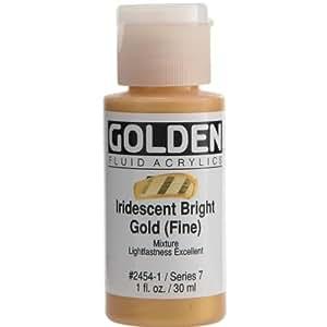 Golden once peinture acrylique fluide 1–or iridescent by notions en réseau