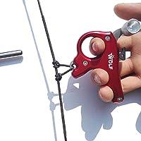 SHARROW Tiro al Arco Release Aids Arco Compuesto 3 Dedos Arco Liberación Disparadores para Accesorios de Caza (Rojo)