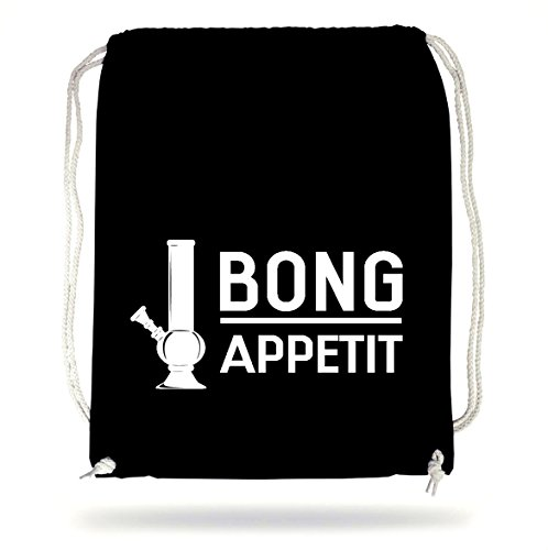 Bong Appetit Gymsack Black Certified Freak (Baumwolle Gewaschen Mischung)