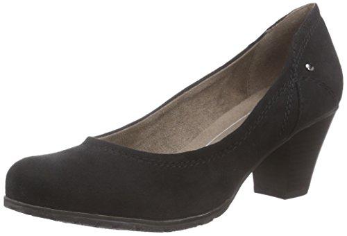 Softline 22465, Chaussures à talons - Avant du pieds couvert femme Noir - Noir