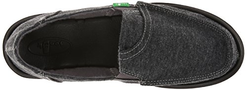 Sanuk Pick Pocket Fleece 29418249, Scarpe chiuse donna Grigio (Grau (CHARCOAL))