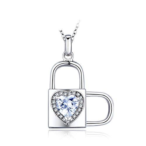 925Collana placcata argento platino/Coreano pendente a forma di cuore/Clavicola catena metodo creativo di tre/Cuore-A
