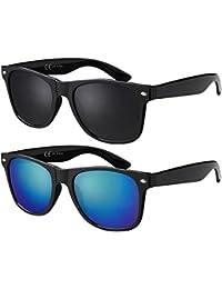 Original La Optica UV400 Unisex Sonnenbrille Wayfarer - Farben, Einzel-/Doppelpacks, Verspiegelt