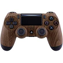 eXtremeRate PS4 Controller Schutzhülle Case Obere Hülle Cover Oberschale Gehäuse Skin Schale für Playstation 4 PS4 Slim PS4 Pro Controller JDM-040 JDM-050 JDM-055(Holz-Optik)