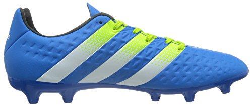 adidas Ace 16.3 FG/AG, Chaussures de Foot Homme Bleu (Shock Blue S16/Semi Solar Slime/Ftwr White)