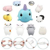 10pcs Mini Kawaii Animal Squishies Lento Aumento 3d Animales Elásticos Suaves Dibujos Animados Squeeze Juguetes Para El Estrés Relif Por Time4deals de TIME4DEALS