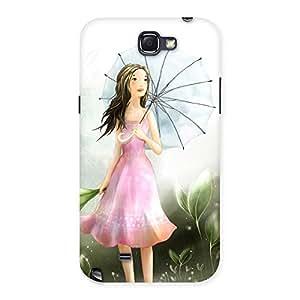 Stylish Umbrella Princess Multicolor Back Case Cover for Galaxy Note 2