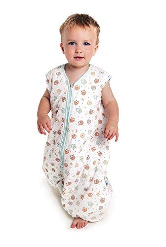 Preisvergleich Produktbild Schlummersack Baby Sommerschlafsack mit Füssen 1 Tog - Eulen - 12-18 Monate / 80 cm