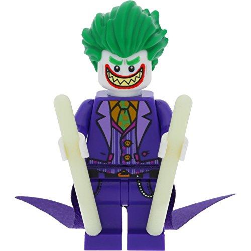 LEGO Batman Minifigur The Joker mit langem Umhang aus Set 70900 + 2x GALAXYARMS Stab nachtleuchtend
