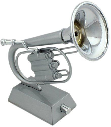GYD XL Trompeten Feuerzeug Tischfeuerzeug Sammlerst&uumlck (Silber)