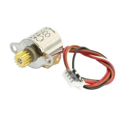 Preisvergleich Produktbild sourcingmap® Schrittmotor mit Getriebe,  4 Anschlussdrähte,  6 V DC,  Austauschmotor für Digitalkamera