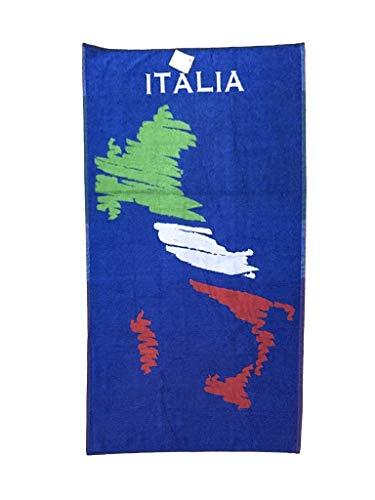 Fratelli Pesce 8030 Strandtuch Italien, Blau -