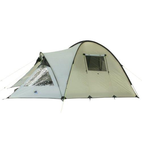 10T Glenhill 4 - 4-Personen Kuppel-Zelt mit Tunnel-Apsis Innenkabine 2-Eingänge Fenster WS=5000mm -