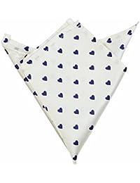 Blacksmith Tiny Blue Hearts Printed Pocket Square