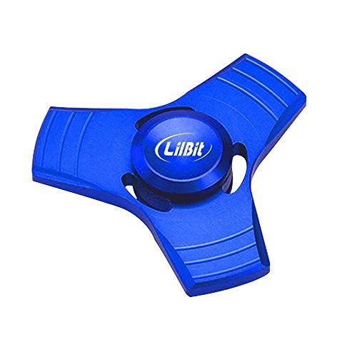 Lilbit Prime Tri Fidget dedo de mano Spinner aleación de metal Stress Relief juguetes para el autismo de ansiedad ADD ADHD Niños / Adultos Azul