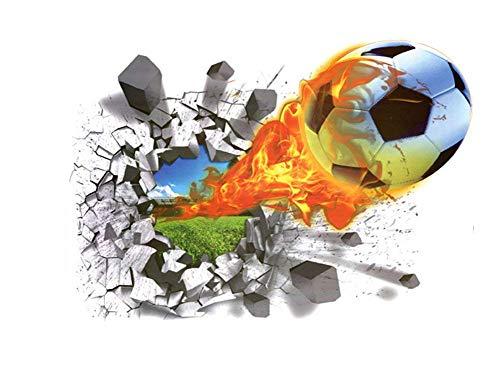 r 3D Fußball Wandtattoos Wandbilder Dekoration für Schlafzimmer Wohnzimmer Kinderzimmer ()