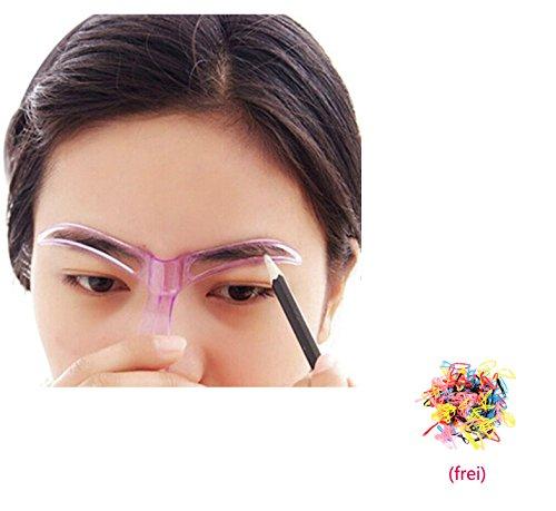 Tefamore 1STK Augenbrauen Schablone, Eyebrows Grooming Stencil Kit , Augenbraue Pflege Gestaltung Vorlage