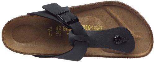 Birkenstock Medina , Unisex - Erwachsene Sandalen/Zehentrenner aus Birko-Flor Schwarz