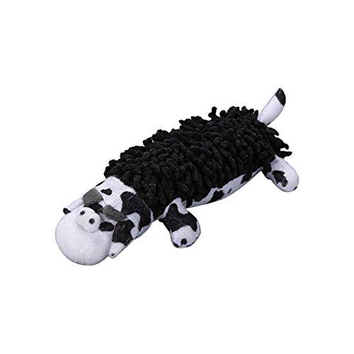 hifuture Pet Kauen Spielzeug kurz Plüsch Baumwolle Backenzähne Bite beständig Zähne Reinigungs schwarz und weiß Soft Spot Hund Pet Interaktives Spielzeug -