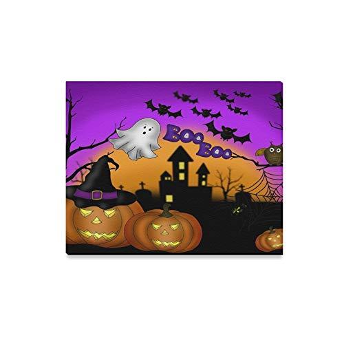 WDDHOME Wandkunst Malerei Halloween Scary Night Kürbis Drucke Auf Leinwand Das Bild Landschaft Bilder Öl Für Zuhause Moderne Dekoration Druck Dekor Für Wohnzimmer