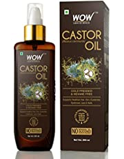 WOW 100 Pure Castor Oil Cold Pressed For Stronger Hair Sk