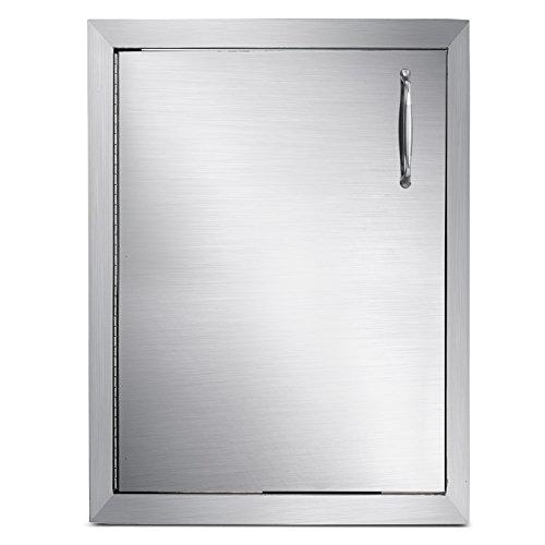 Husuper 570X415X580mm Edelstahl Links angeschlagene Einstiegstür vertikale Tür Unterputzmontage für die Außenküche Tür für Badezimmer Smoker Putztür für BBQ -