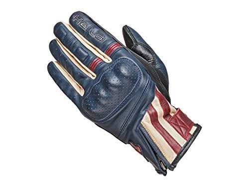 Held Motorradhandschuhe kurz, Motorrad Handschuhe Paxton Handschuh blau/beige/burgund 10, Herren, Chopper/Cruiser, Sommer, Leder