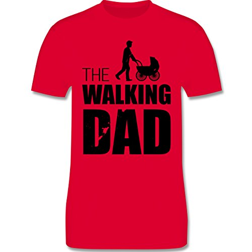 Shirtracer Vatertag - The Walking Dad - Herren T-Shirt Rundhals Rot