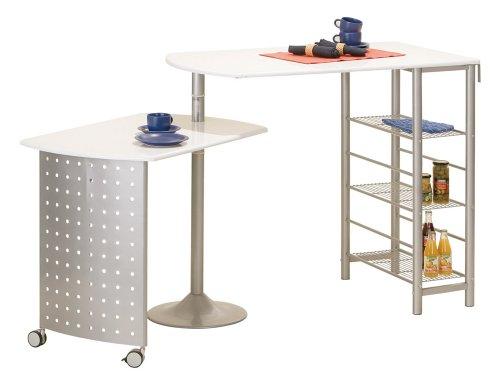 Links 99600220 FILAMENTO Küchenbar weisse Platten 115 176x70x100 cm