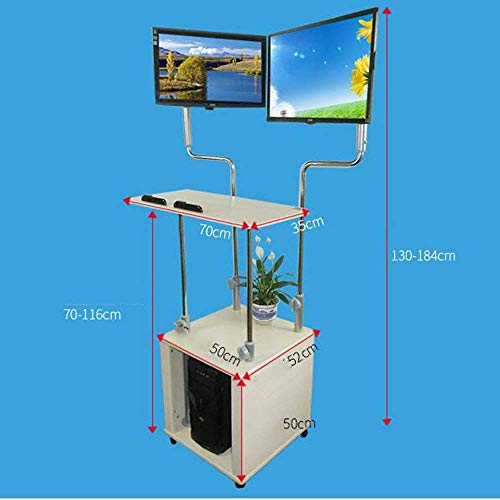 Tisch Dualer ergonomischer Monitor Stehpult Riser | Praktischer Stil | Stand Up Desk Converter | Workstation für Heimbüro Simple Creative Bed Multifunktionstisch ()
