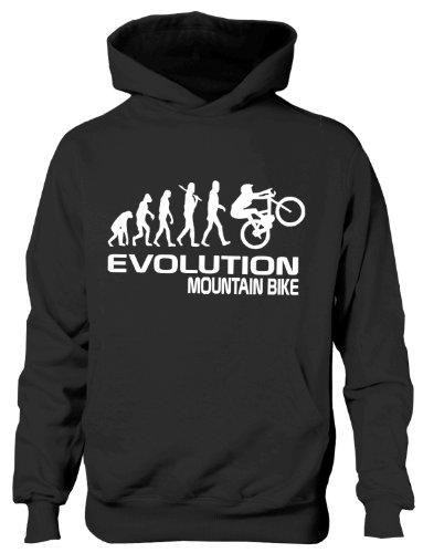 Mountain Bike/Biker ~ Evolution von ~ Kinder/Mädchen/Jungen Kapuzenpulli in 6Farben ~ Alter 5–13 Gr. 12 Jahre, schwarz