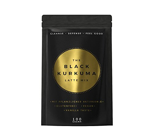 THE BLACK KURKUMA LATTE | Kurkuma-Vanille Powder mit pflanzlicher Aktivkohle | Defense | Cleanse...