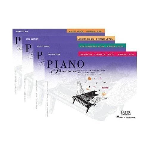 Faber Piano Adventures Primer Level Learning Library Pack - Lesson, Theory, Performance, and Technique & Artistry Books